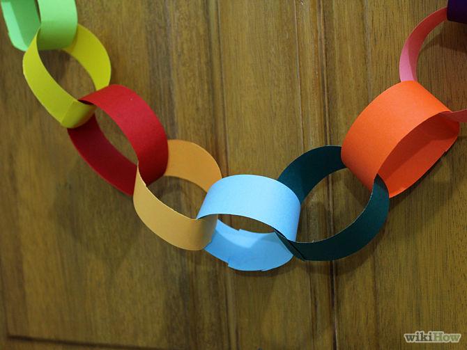 144Как сделать елочную цепь из цветной бумаги сочинение